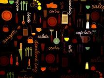 De achtergrond van het keukenmateriaal Royalty-vrije Stock Foto's