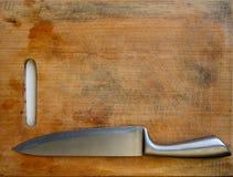 De Achtergrond van het keukenmes Stock Foto's
