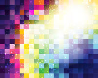 De Achtergrond van het kleurenpixel royalty-vrije illustratie