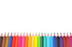 De achtergrond van het kleurenpotlood Royalty-vrije Stock Afbeelding