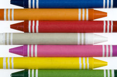 De Achtergrond van het kleurpotlood Stock Afbeeldingen