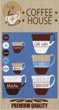De achtergrond van het koffiehuis Royalty-vrije Stock Afbeeldingen