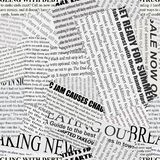 De Achtergrond van het krantenpapier Stock Fotografie