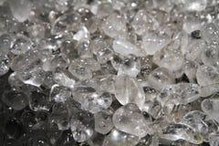 De achtergrond van het kwartskristal Stock Afbeelding