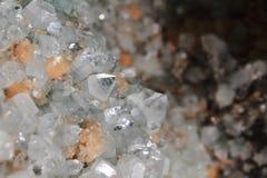 De achtergrond van het kwartskristal Stock Afbeeldingen