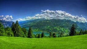 De achtergrond van het landschap Stock Afbeelding