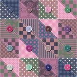 De achtergrond van het lapwerk met verschillende patronen Royalty-vrije Stock Foto