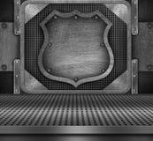 De achtergrond van het metaal Stock Foto