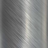 Geborstelde aluminium metaalplaat vector illustratie