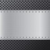 De achtergrond van het metaal Zwarte en zilveren staalachtergrond abstracte achtergrond Stock Afbeeldingen