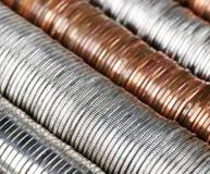 De achtergrond van het muntstuk stock afbeelding