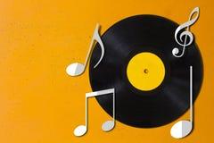 De achtergrond van het muziekconcept Stock Afbeelding