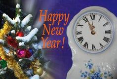 De achtergrond van het nieuwe jaar Stock Foto