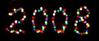 De achtergrond van het nieuwe jaar bokeh Royalty-vrije Stock Foto