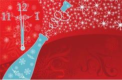 De achtergrond van het nieuwe jaar, vector stock illustratie