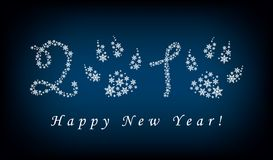 De achtergrond van het nieuwjaar royalty-vrije illustratie