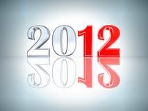 De achtergrond van het nieuwjaar 2012 Stock Foto