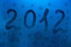 De achtergrond van het nieuwjaar 2012 Stock Afbeelding