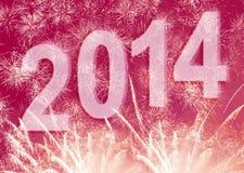 De achtergrond van het nieuwjaar 2014 Stock Afbeeldingen
