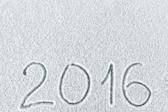 De achtergrond van het nieuwjaar en van Kerstmis van sneeuw Stock Fotografie