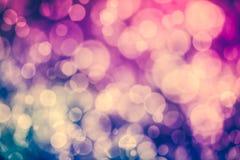 De Achtergrond van het Nieuwjaar van Kerstmis Purpere bokeh abstracte achtergrond Stock Afbeeldingen