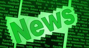 De achtergrond van het nieuws Stock Foto