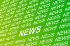 De achtergrond van het nieuws Stock Fotografie