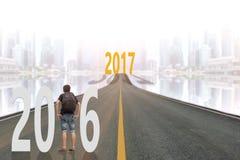 De achtergrond van het nieuwsjaar 2017 Royalty-vrije Stock Foto's