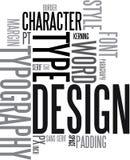 De achtergrond van het ontwerp en van de typografie Stock Foto's