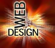 De Achtergrond van het Ontwerp van het Web Stock Afbeelding