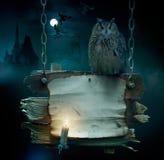 De achtergrond van het ontwerp voor de partij van Halloween Stock Foto's