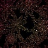 De achtergrond van het ornament met bloemen, patroon Stock Fotografie