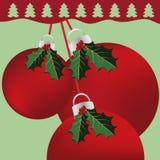 De Achtergrond van het Ornament van Kerstmis Stock Afbeelding