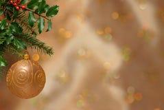De Achtergrond van het Ornament van Kerstmis Stock Foto's