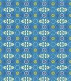 De achtergrond van het ornamentblauw Stock Afbeelding
