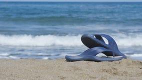 De achtergrond van het overzees en het strand stock videobeelden