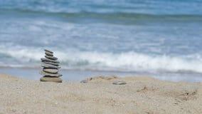 De achtergrond van het overzees en het strand stock video