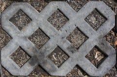 De achtergrond van de het patroontextuur van de betontegelsgrill royalty-vrije stock foto