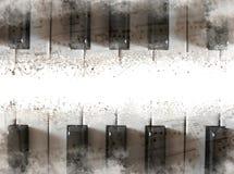 De achtergrond van het pianotoetsenbord stock afbeeldingen