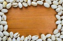 De achtergrond van het pistachekader Royalty-vrije Stock Fotografie