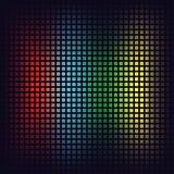 De achtergrond van het pixelmozaïek Rode, blauwe, groene en gele vierkanten digitale achtergrond Vector Stock Afbeelding