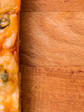 De achtergrond van het pizzavoedsel Royalty-vrije Stock Afbeeldingen