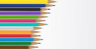 De achtergrond van het potlood Royalty-vrije Stock Afbeelding