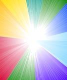De achtergrond van het regenboogspectrum Stock Fotografie