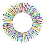 De achtergrond van het regenboogvuurwerk royalty-vrije illustratie