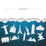 de achtergrond van het reisoriëntatiepunt Stock Afbeelding