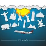 de achtergrond van het reisoriëntatiepunt Stock Foto