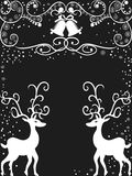 De achtergrond van het Rendier van Kerstmis Stock Afbeeldingen
