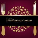 De Achtergrond van het restaurant Stock Fotografie