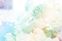 De achtergrond van het rozenboeket Stock Foto's